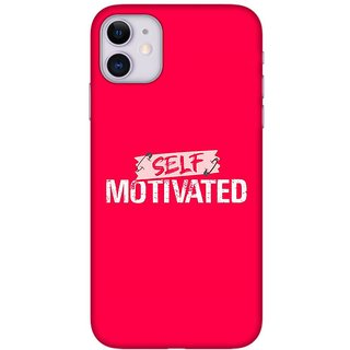 Onhigh Designer Printed Hard Back Cover Case For Iphone 11, Self Motivated