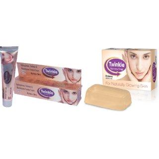 Twinkle Cream For Fairness (Set Of 2 Pcs.) + Twinkle Fairness Soap (Set Of 2 Pcs.)