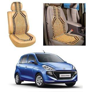 Autoright Car Acupressure Wooden Bead Seat Set Of 1-Hyundai Santro