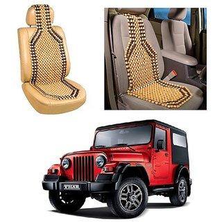 Autoright Car Acupressure Wooden Bead Seat Set Of 1-Mahindra Thar