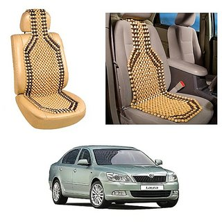 Autoright Car Acupressure Wooden Bead Seat Set Of 1-Skoda Laura