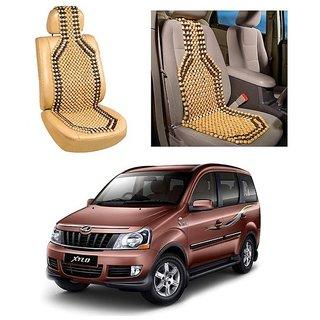 Autoright Car Acupressure Wooden Bead Seat Set Of 1-Mahindra Xylo