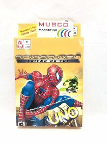 Mubco Uno Cartoon Characters Card Game 2-10 Players 108 Cards Ages 7+ (Spider-Man)