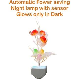 Nucleya Retail Colour Changing Night Lamp Automatic Sensor Night Lamp Mushroom Shape Night Lamp