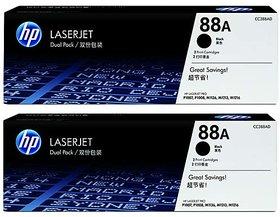 Hp 88A 2-Pack Black Toner Cartridge (Cc388A) For Use Hp Laserjet P1005, P1006, P1007, P1008, M1136 Mfp, M1213Nf Mf