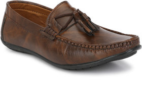 Bucik Men's Brown Synthetic Leather Loafers