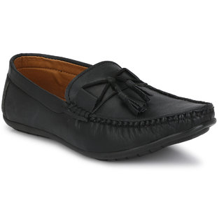 Bucik Men's Black Synthetic Leather Loafers