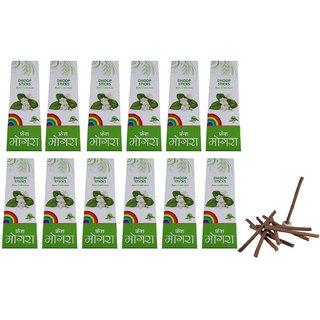 Stylewell Rare Collection(Pack Of 12) Premium Fresh Mogra/Jasmine Scented Dry Dhoopbatti Incense Sticks Box(10 Sticks)