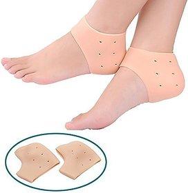 Kushahu Crack Heel Support Gel Flat Foot Support Silicon Cushion Heel Pad Moisturizing Silicone Gel Heel Socks