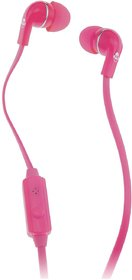 Idance Hedrox In20 Wired Headset Earphone With Mic (Pink, In The Ear)