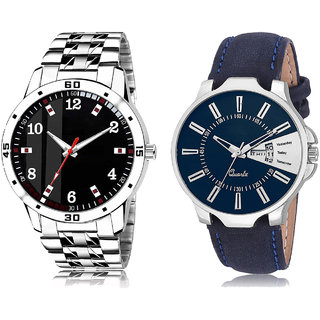 Adk Ad-06-Lk-23 Black & Blue Dial Day & Date Functioning Watches For Men