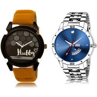 Adk Lk-32-105 Black & Blue Dial Day & Date Functioning Watches For Men