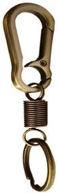 Productmine Heavy Dutymetal Spring Hook Locking Keychain For Bike Cars Key Chain- Bronze Tone
