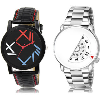 Adk Lk-12-106 Multicolor & White Dial Look Watches For Men
