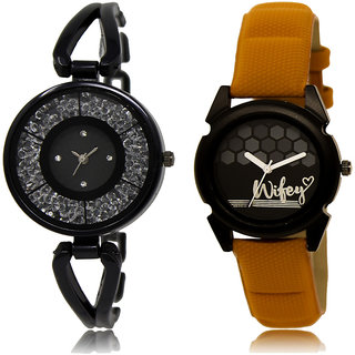 Adk Lk-211-235 Black & Black Dial New Watches For Girls