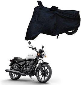 De Autocare Black Matty Two Wheeler Bike Body Cover For Roy@L En-Field Bullet Thunderbird 350X With Mirror Pocket