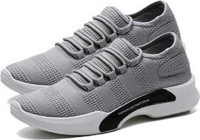 Oora Casual Men's Shoes Gray Black Color Canvas Party Wear Mens Laced Running Sports Shoes For Men