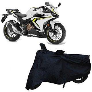 De Autocare Black Matty Two Wheeler Bike Body Cover For Honda Cbr500R With Mirror Pocket