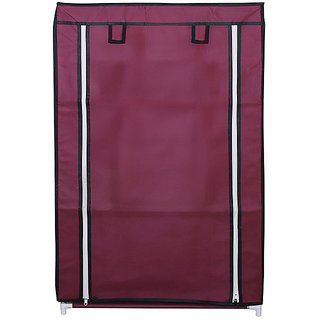 Anr Store Shoe Rack With Cover 4 Layers Maroon