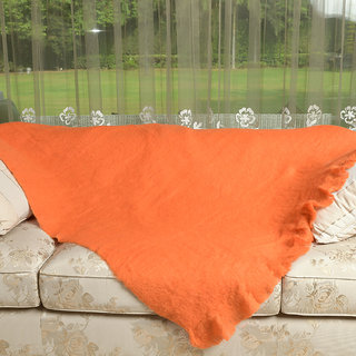 Young Arc Amber Glow Orange Throw