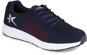 Refoam Men Navy-Red Mesh Sports Shoes