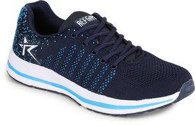 Refoam Men Navy-Sky Mesh Sports Shoes