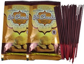 De-Ultimate Zipper (Pack Of 2) Chandan/Sandal Scented Premium Incense Sticks Agarbatti
