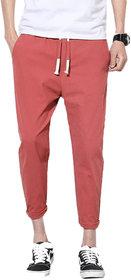 Pause Solid Multicolor Trouser Slim Fit Ankle Length Men 4-Way Lycra