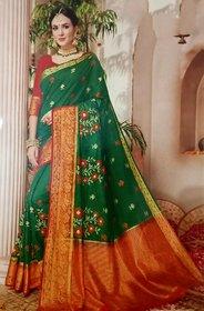 Embroidery Fancy Silk Saree