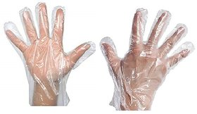 Aggarwal Co. Plastic Cleaning, Gardening, Medical Salon Disposable Transparent Hand Gloves 500 Pieces
