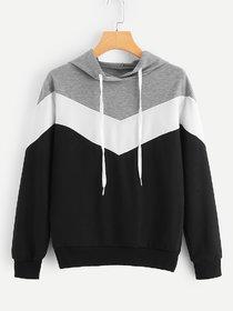 Raabta Grey And White With Black Zig Zag Strip Sweatshirt