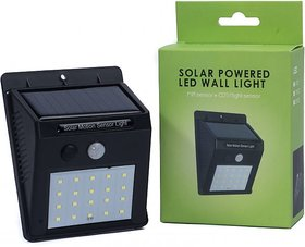 Vinayak Xf-6009 20 Led Motion Sensor Street Lights Automatic On And Off Solar Light Set (Wall Mounted)