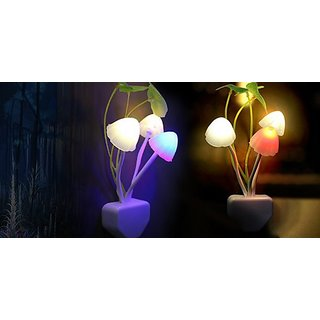 Pack Of 2 Colour Changing Night Lamp Automatic Sensor Night Lamp Mushroom Shape Night Lamp