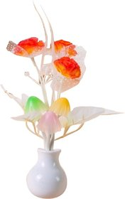 Peepalcomm Mushroom Auto Sensor Led Color Changing Night Lamp Wall Lamp Light -Orange