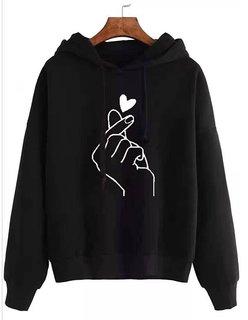 Raabta Black Heart Print Sweatshirt
