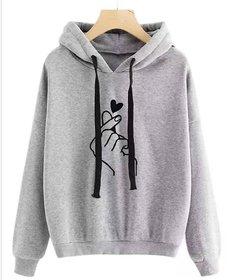 Raabta Gray Heart Printed Sweatshirt