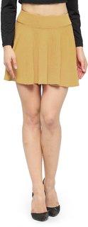 Nitein High Waist Flared Black Knit Skater Short Mini Skirt