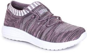 Refoam Women's Purple Grey Flyknit Casual Shoe