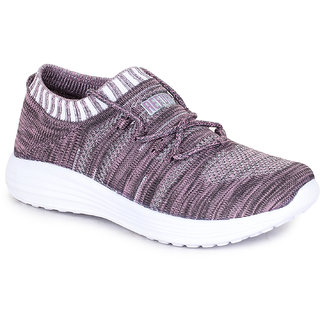 Refoam Women's Purple Grey Flyknit Casual Shoe