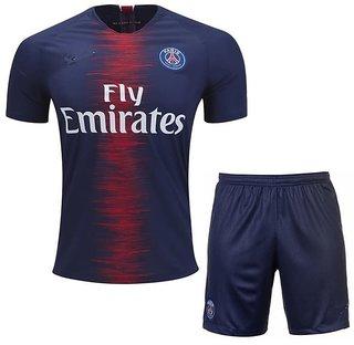 Paris S G Home Kit Jersey With Shorts 2018-19 Season