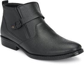 Bucik Men's Black Leather Casual Boot