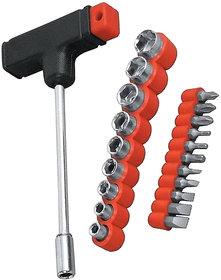 Shopper52 Multipurpose Screwdriver Socket Set and Jackly Wrench Magnetic Tool Kit for Home, Car, Bike -21PCTK