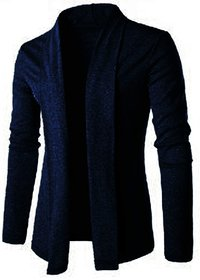 Odoky Men Blue Cotton Blend Shrugs