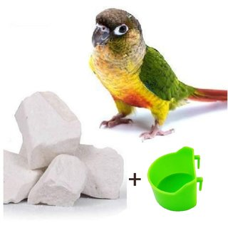 Rayyans Natural Mineral blocks for Pet Love Birds Budgies Cocktails African Parrots (Pack contain 480 grams)