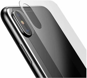 DY Premium Scratch Resistant Screen Protector Back Tempered Glass for iPhone X