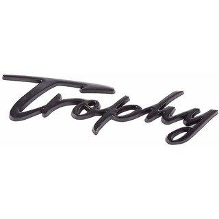 DY Signature Trophy 3D Metal Black Chrome Badge Decal Sticker Emblem Logo for Car Bike Laptop Mobile
