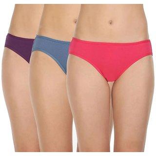 Rayyans (Pack of 3) Beauty Like Premium High Export Quality Bikini Panties - Colors may vary