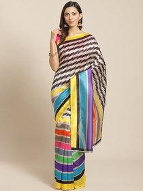 Multicolor Batik Print Silk Saree With Blouse by Sharda Creation
