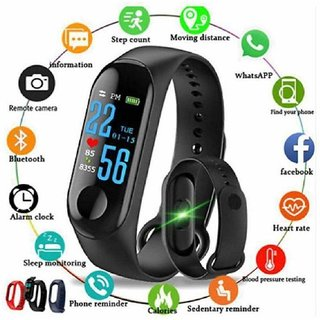 M3 Smart Band Fitness Tracker Watch Heart Rate with Activity Tracker Waterproof Touchscreen