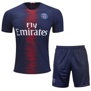 PARIS S G HOME KIT JERSEY WITH SHORTS 2018-19 SEASON